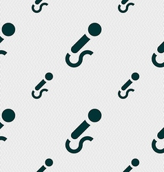 Microphone icon sign seamless pattern with vector