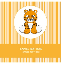 Greeting card tiger vector