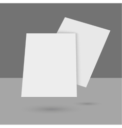 Hovering blank empty magazine vector