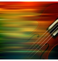 Abstract brown motion blur background with violin vector