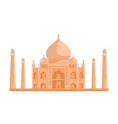 Tadj mahal in flat design vector