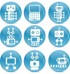 robot web icons vector image