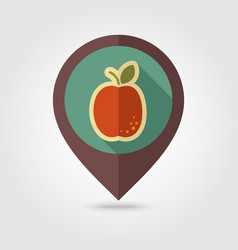 apricot flat pin map icon fruit vector image vector image