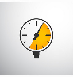 barometer pressure gauge vector image