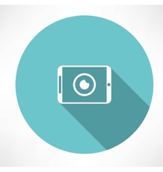 Camera phone icon vector