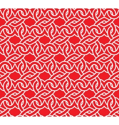 Chain mail of the links in form of red hearts vector image vector image