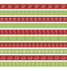 Christmas seamless borders for holiday design vector image vector image
