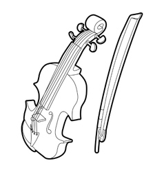 Contrabass icon outline isometric style vector image