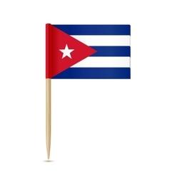 Cuba flag toothpick vector image vector image