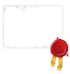 document and seal vector image vector image