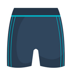 Female gym shorts icon vector
