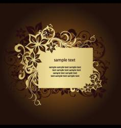 floral frame page vector image vector image