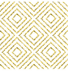 Gold pattern with squares vector