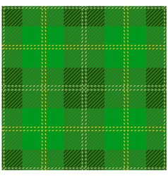 Green Scottish Tartan Design vector image