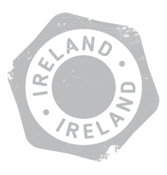 Ireland stamp rubber grunge vector