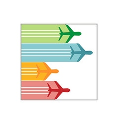 Logo airplane colorful vector