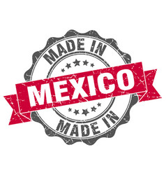 Made in mexico round seal vector