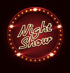 Night show poster template vector