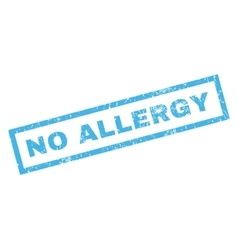 No allergy rubber stamp vector