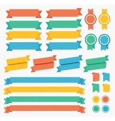 Ribbon and labels set vector