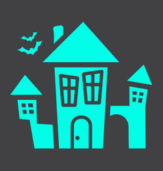 scary house glyph icon halloween and scary vector image