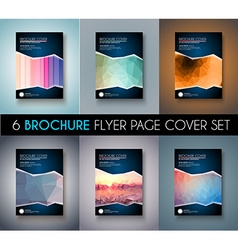 Set of Brochure templates Flyer Designs or vector image vector image