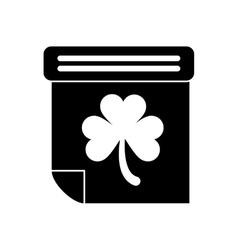 silhouette calendar clover st patrick day irish vector image vector image