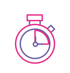 silhouette clock alarm to know the hour time vector image