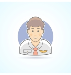 Steward pilot servant icon Avatar and person vector image vector image