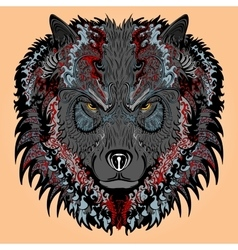 Stylised wolf vector