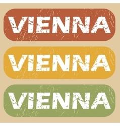 Vintage vienna stamp set vector