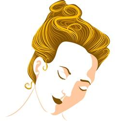 womans head vector image vector image