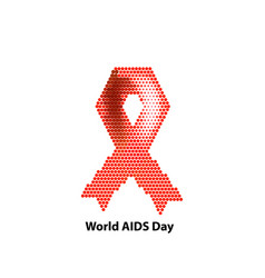 world aids day ribbon red vector image
