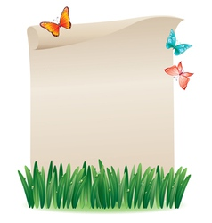 Scroll in the grass vector image