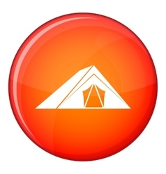 Tent icon flat style vector