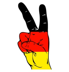 Peace sign of the germany flag vector