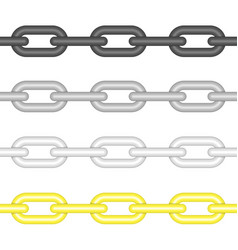Different colors chains link vector