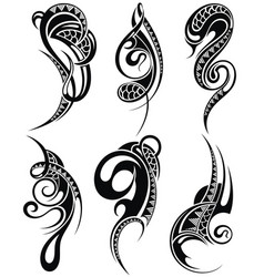 decorative set of tattoo elements vector image