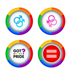 Gay pride badges vector