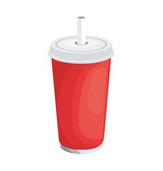 soda paper glass vector image