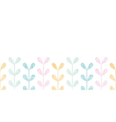 Abstract textile colorful vines leaves horizontal vector