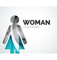 Color abstract logo woman icon vector image