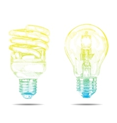Hand made lamp graphic sketch vector
