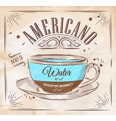 Coffee kraft americano vector