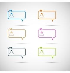 Set of six colorful speech bubbles vector