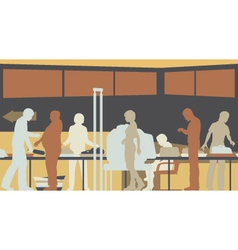 Airport security check vector image