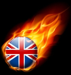 Round glossy icon of great britain vector