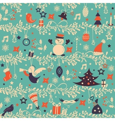 Christmas background blue vector
