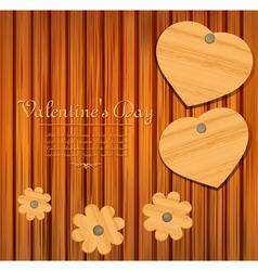 valentines wooden background vector image