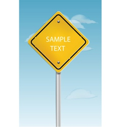 Road sign vector